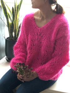 DIY Kit - Peacock Plumes Sweater - Mohair So Soft
