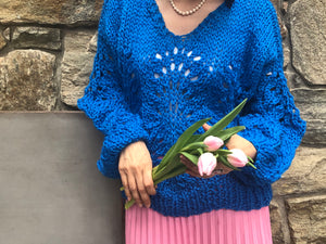 DIY Kit - Peacock Plumes Sweater - Merino Worsted