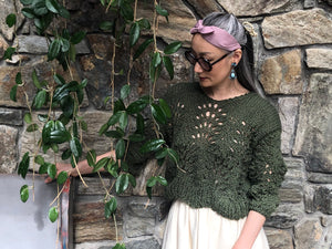 DIY Kit - Peacock Plumes Sweater - Summer