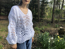 Load image into Gallery viewer, Peacock Plumes Sweater PATTERN- Summer yarn