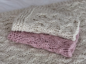 My First Cable Baby Blanket PATTERN- Big Cotton