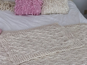 DIY Kit - My First Cable Baby Blanket - Big Cotton