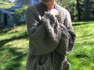 DIY Kit - Recluse Cardigan - Big Cotton