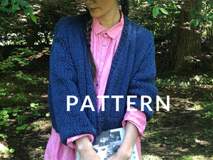 Rhinebeck Cardigan PATTERN- Summer yarn