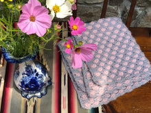 Load image into Gallery viewer, DIY Kit - Aster Flower Baby Blanket - Dream (Merino Worsted)