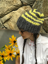Load image into Gallery viewer, Slouchy Beanie-Solid and Stripe PATTERN - Fluffy Alpaca