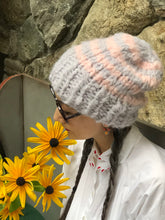 Load image into Gallery viewer, Striped Slouchy Beanie - Alpaca
