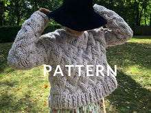 Load image into Gallery viewer, Pretty In Cables Sweater PATTERN- Merino No. 5