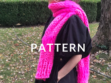 Load image into Gallery viewer, Meri-Alpaca Scarf PATTERN - Merino No. 5 AND Fluffy Alpaca