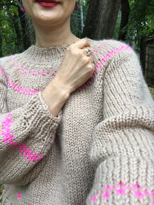 Scandinavian Sweater PATTERN- Dream (Merino Worsted)