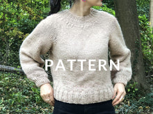 Load image into Gallery viewer, Top-Down Sweater PATTERN- Dream (Merino Worsted)