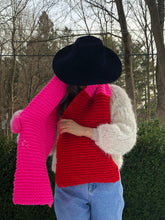 Load image into Gallery viewer, DIY Kit - Color Block Scarf - Dream (Merino Worsted)