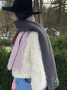 DIY Kit - Color Block Scarf - Dream (Merino Worsted)