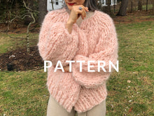 Load image into Gallery viewer, Fluffy Cardigan PATTERN- Fluffy Alpaca