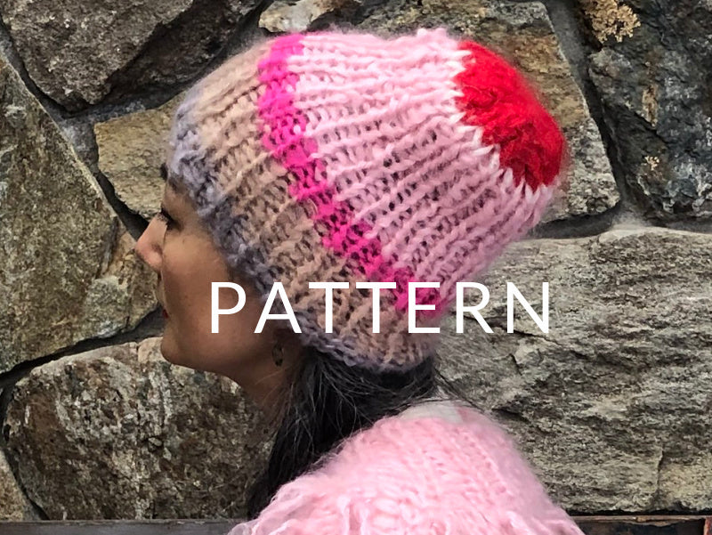 Mohair Striped Beanie- PATTERN - Mohair So Soft