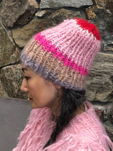 Load image into Gallery viewer, Mohair Striped Beanie- PATTERN - Mohair So Soft