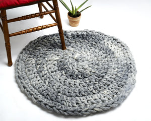 "DIY Kit - Crochet Aspen Rug 32"" (81 cm) - Big Loop"