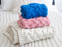 Load image into Gallery viewer, My First Cable Baby Blanket PATTERN- Merino No. 5