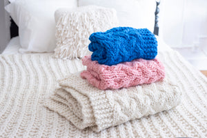 DIY Kit - My First Cable Baby Blanket - Merino No. 5