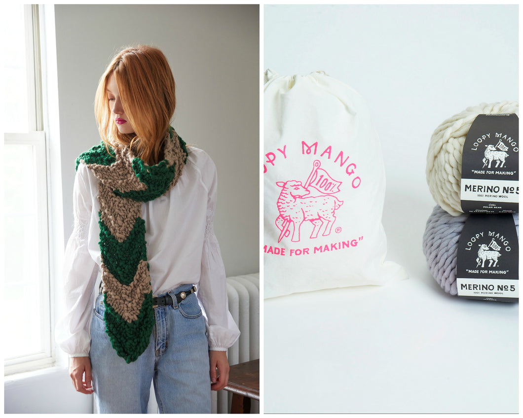 DIY Kit - One Way or Another Chevron Scarf - Merino No. 5