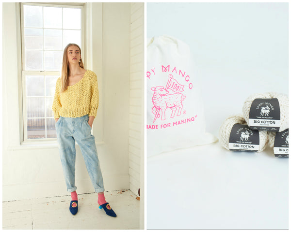 DIY Kit - Super Cropped Sweater - Big Cotton