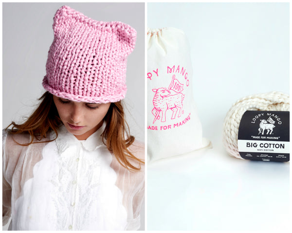 DIY Kit - Cotton Kitty Hat
