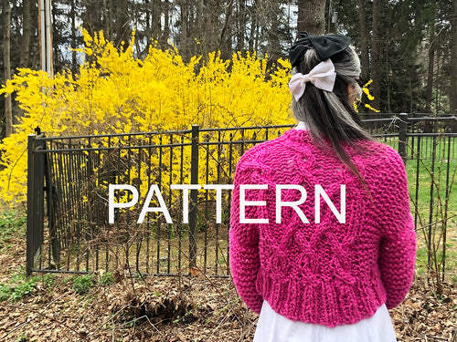 Cropped Fisherman Cardigan PATTERN- Big Cotton