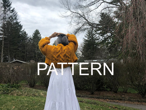 Cropped Fisherman Cardigan PATTERN- Merino No. 5