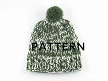Load image into Gallery viewer, Mixed Pompom Hat- PATTERN - Dream (Merino Worsted)