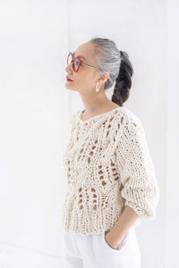 READYMADE Off the Shoulder Sweater - Cotton-SALE