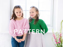 Load image into Gallery viewer, Mini Cropped Sweater PATTERN- Big Cotton
