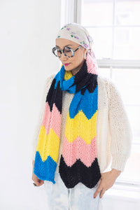 DIY Kit - 4 Color Chevron Scarf - Dream (Merino Worsted)