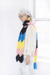 4 Color Chevron Scarf - PATTERN- Dream (Merino Worsted)