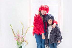 Mini Fringe Beanie PATTERN- Big Cotton