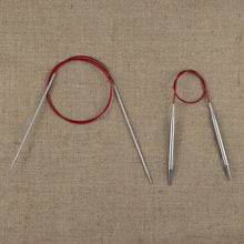 Load image into Gallery viewer, US2 (2.75 mm) - US11 (8 mm) Red Lace Circular Knitting Needles (Metal)