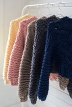 Load image into Gallery viewer, READYMADE-Cropped Fisherman Cardigan - Merino - SALE