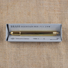 Load image into Gallery viewer, Traveler's Company Brass Fountain Pen