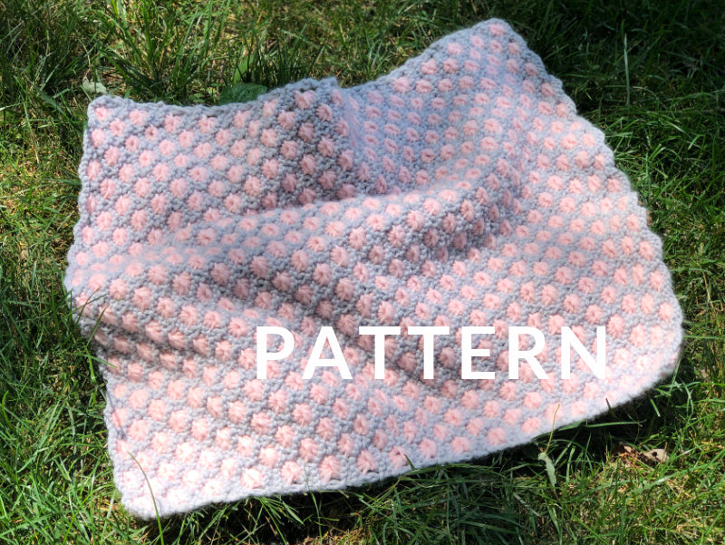 Aster Flower Baby Blanket PATTERN- Dream (Merino Worsted)