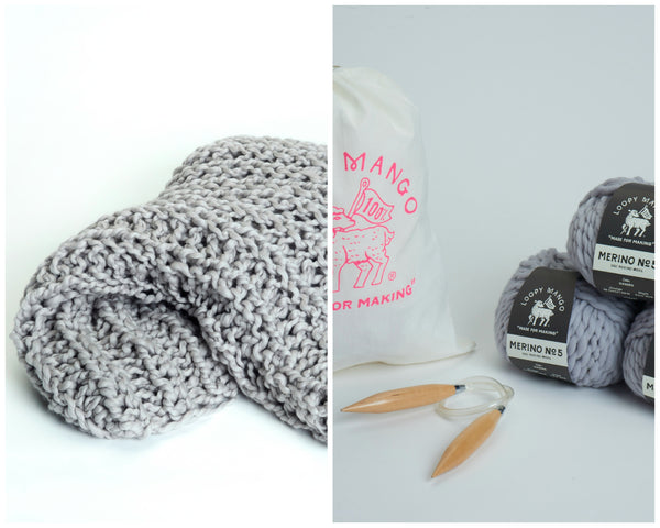 DIY Kit - Fisherman Rib Blanket - Merino No. 5