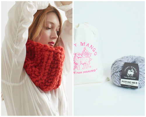 DIY Kit - Fisherman Rib Cowl - Merino No. 5