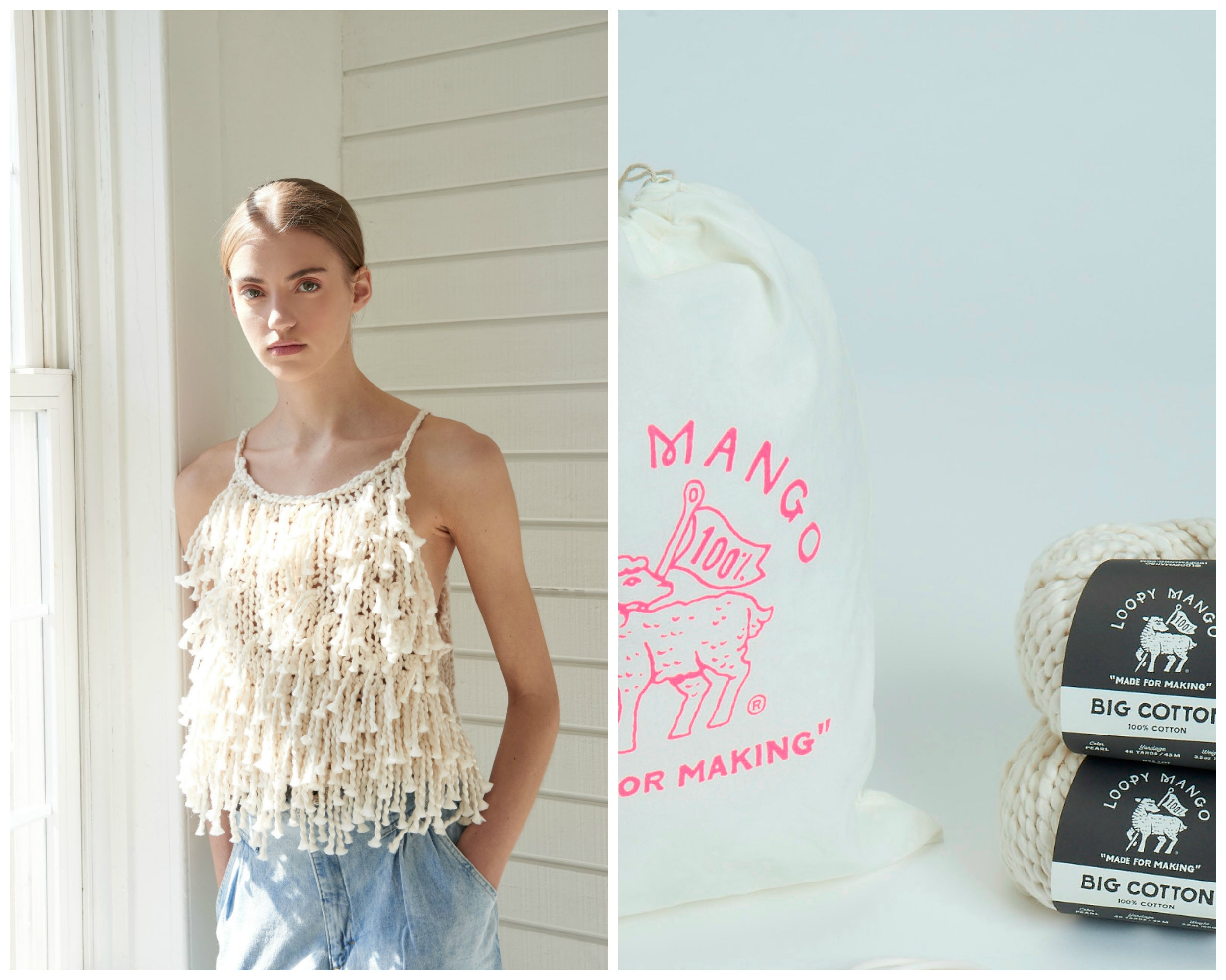 DIY Kit - Fringe Crop Top - Big Cotton