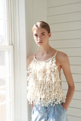 Fringe Crop Top - Cotton