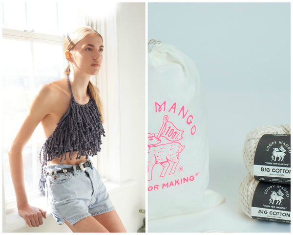 DIY Kit - Fringe Halter Top - Big Cotton