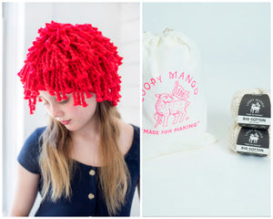 DIY Kit - Mini Fringe Beanie - Big Cotton