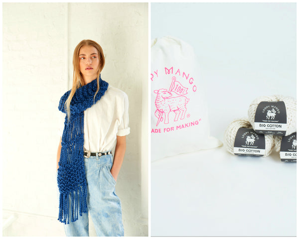 DIY Kit - Fringe Scarf - Big Cotton