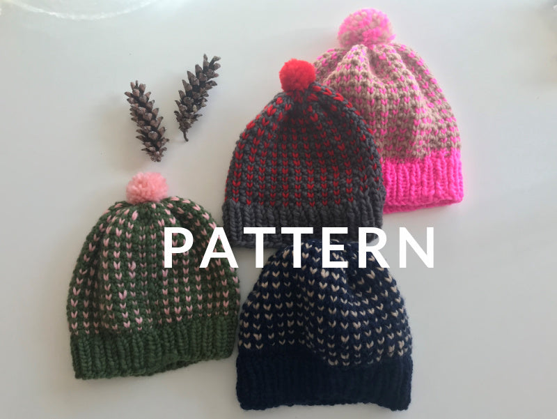 Happy Hat - PATTERN- Dream (Merino Worsted)