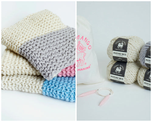 DIY Kit - Her Baby Blanket - Merino No. 5