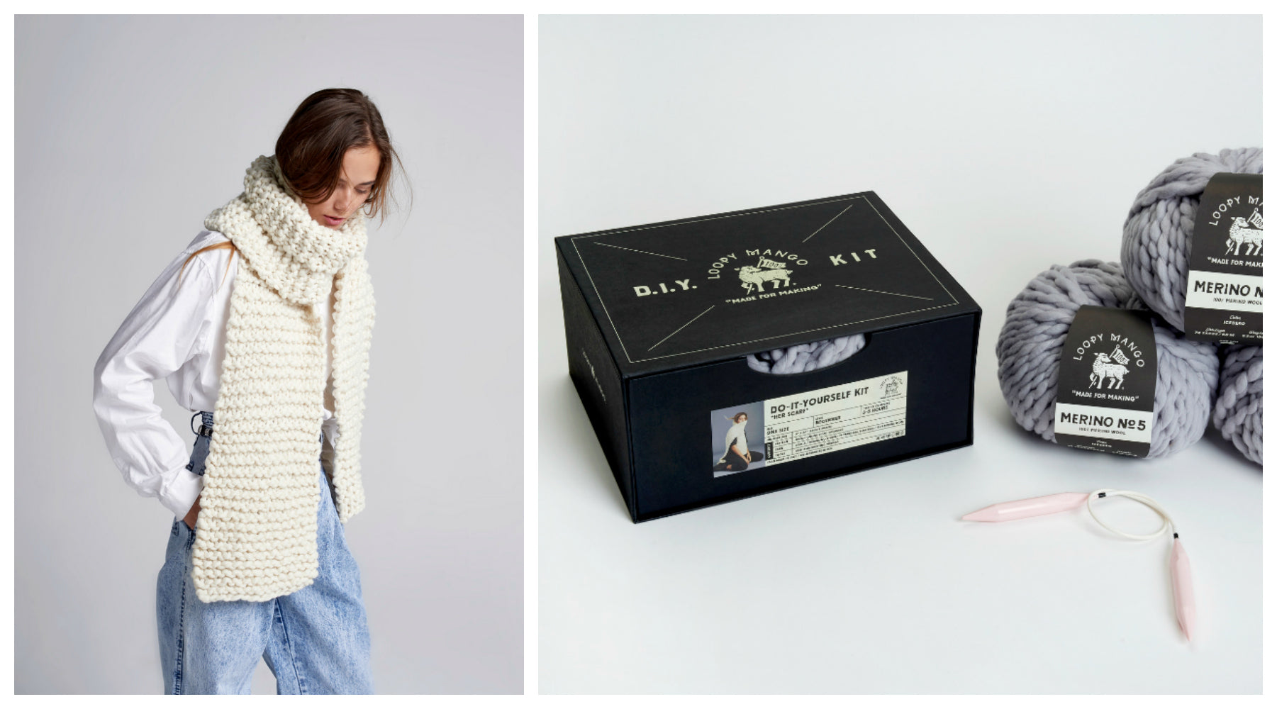 DIY Box Kit - Her Scarf - Merino No. 5