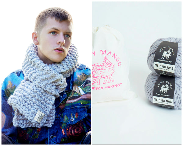 DIY Kit- His Scarf - Merino No. 5