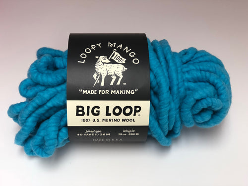 DISCONTINUED COLOR - Big Loop 10oz. Mini Merino Wool  - Caribbean Blue